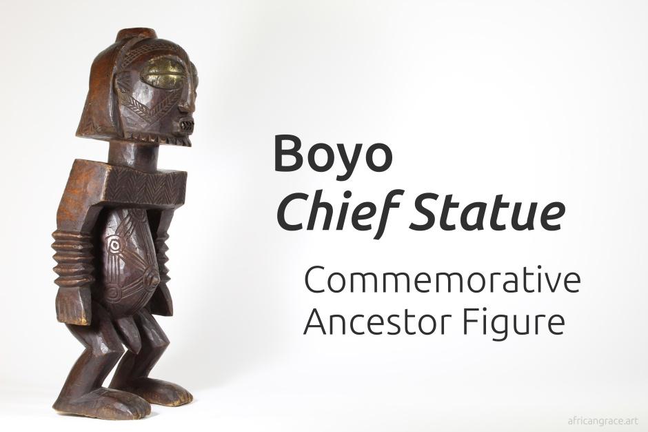 Boyo chief statue title - commemorative ancestor figure